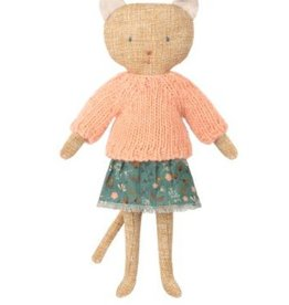 Maileg Cuddle Toy Kitten - Blue Skirt