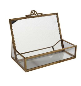 Jewelry Box with Upright Mirror
