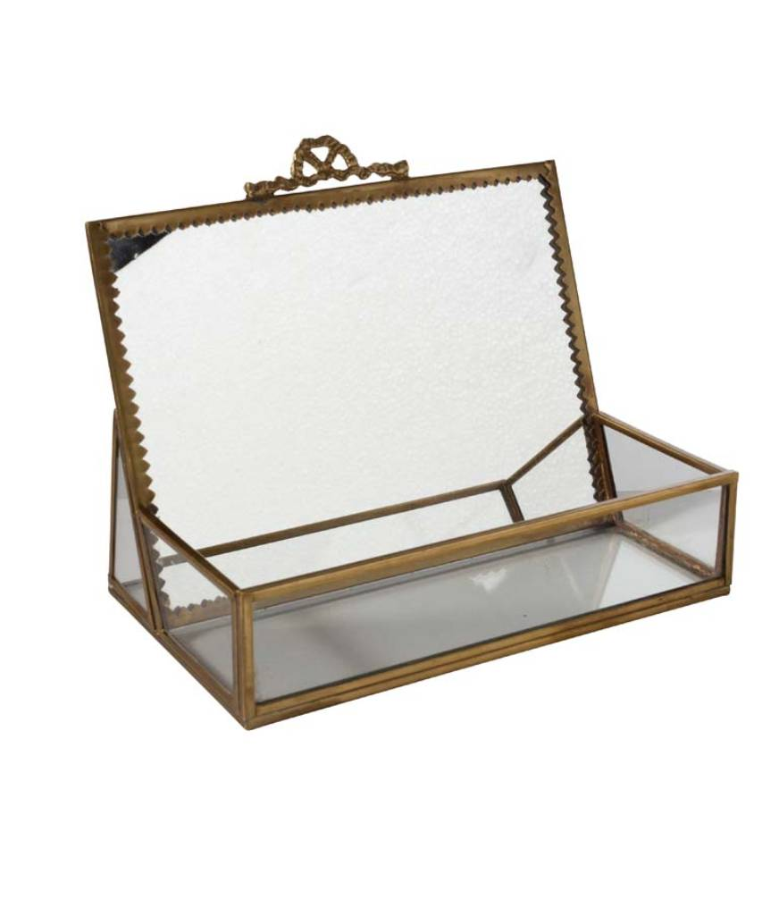 Jewelry Box with Upright Mirror