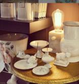Astier de Villatte Colbert Vase - Golden Rim