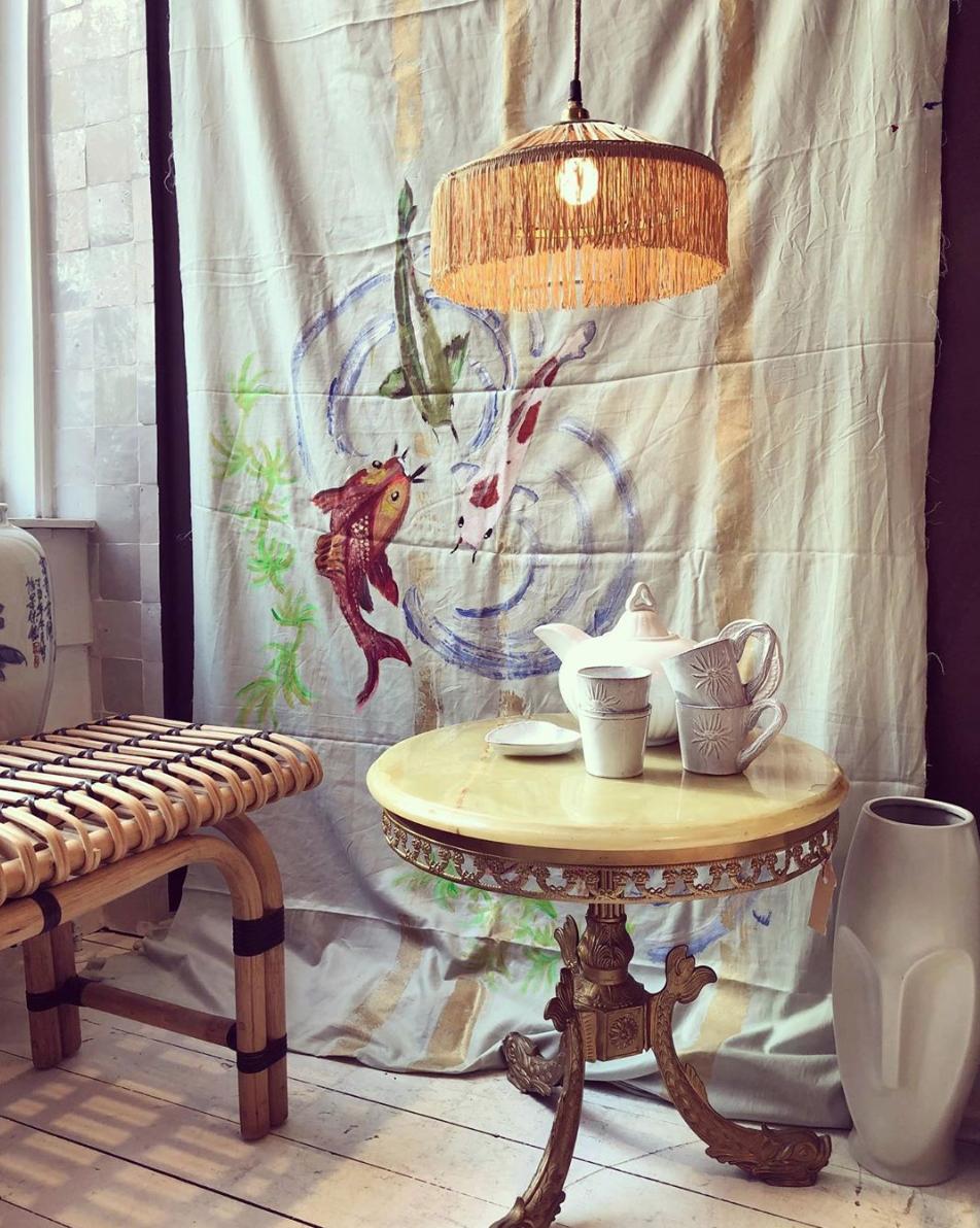 Honoré Décoration Hang Lamp Raffia - Naturel