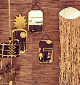 Wall Mirror -  Eye with Raffia