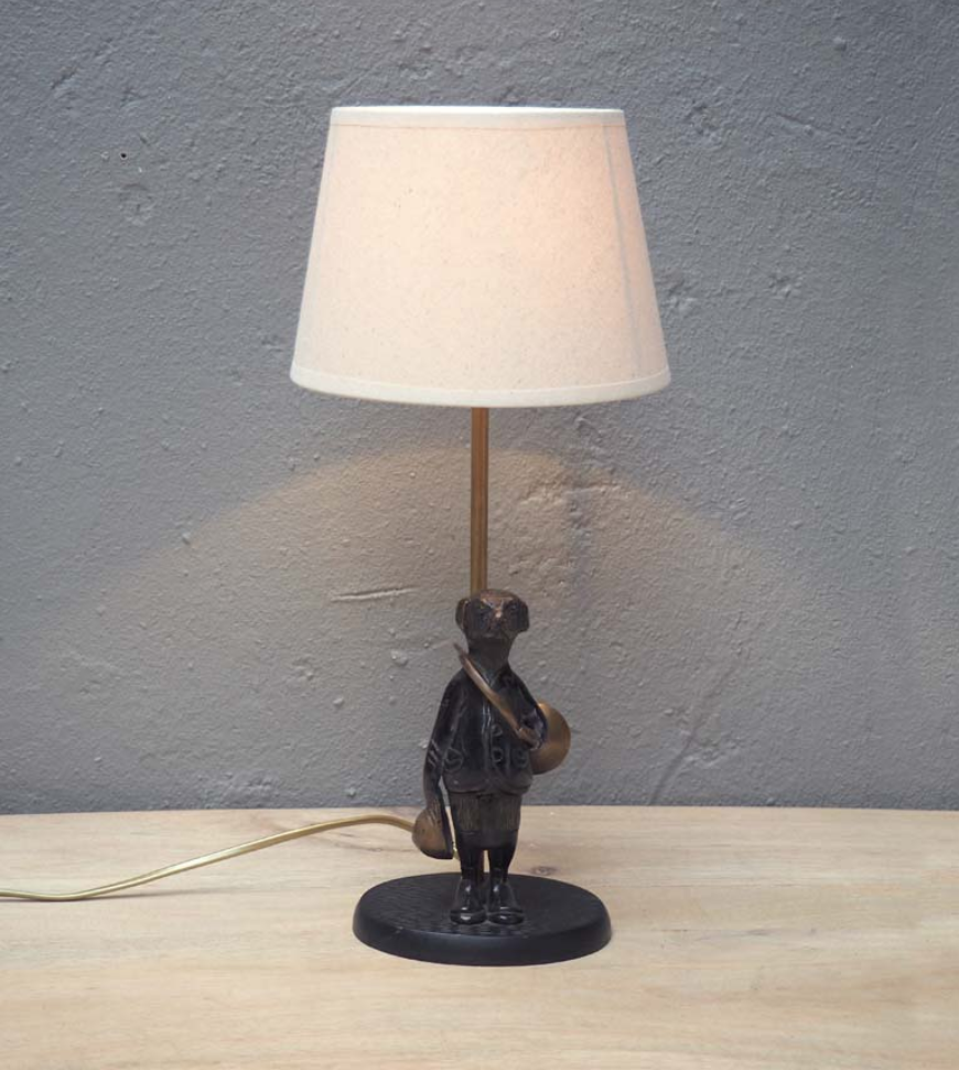 Lamp base - Dog with horn
