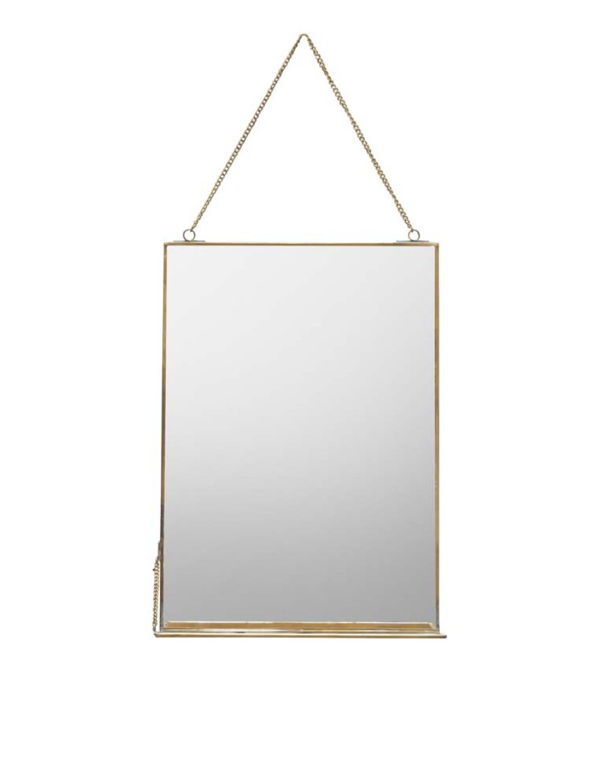 Hang Mirror with Shelf