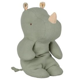 Maileg Cuddle Toy Safari Friends - Rhino Blue/Green