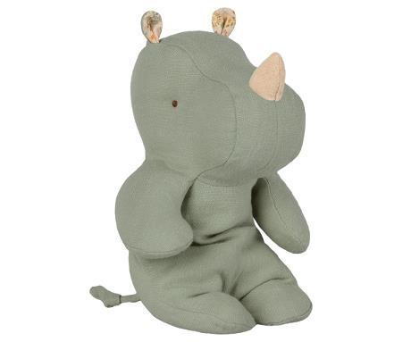 Maileg Cuddle Toy Safari Friends - Rhino Blue/Green