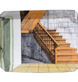 Astier de Villatte John Derian Rectangular Platter - Stairs
