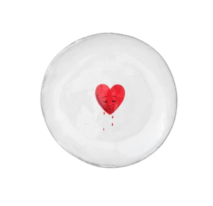 Astier de Villatte John Derian Small Plate - Crying Heart