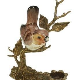 Candlestick - Bird on Bronze Branch