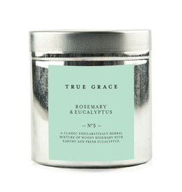 True Grace Walled Garden Candle in Tin - Rosemary & Eucalyptus