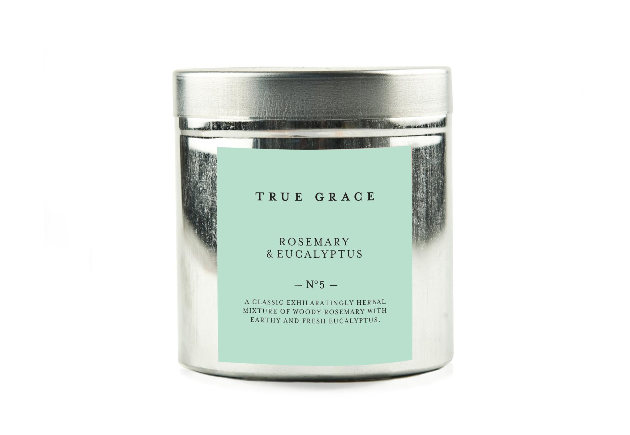 True Grace Walled Garden Candle in Tin - Rosemary & Eucalyptus