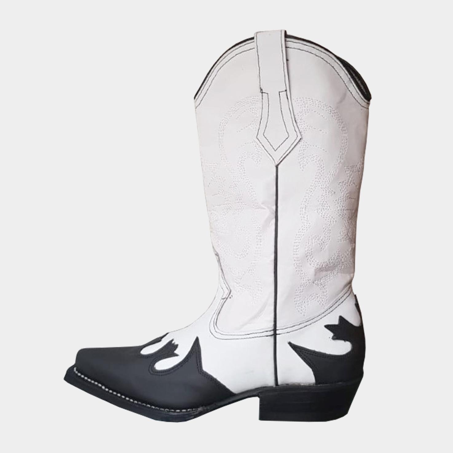 Milo Cowboy Laarzen - Zwart/Wit