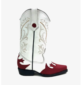 Milo Cowboy Boots - Red/White