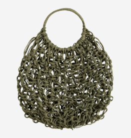 Madam Stolz Macrame Round Bag - Green