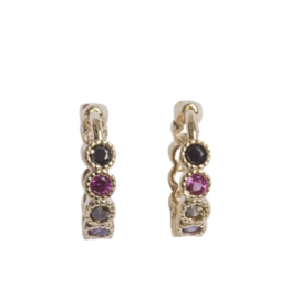 Bobby Rose Earring Swarovski Clip - Multi color