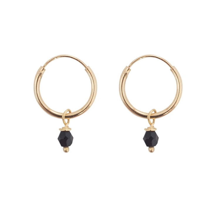 Bobby Rose Earring - Black Onyx