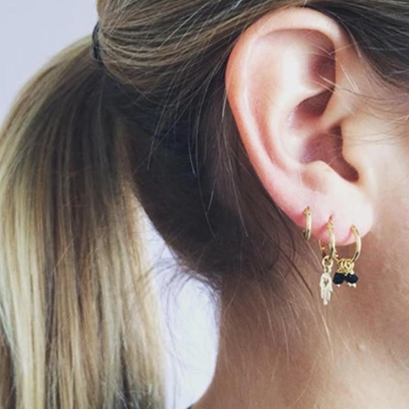 Bobby Rose Earring - Golden Love Hamsa
