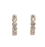 Bobby Rose Earring Swarovski Clip - White