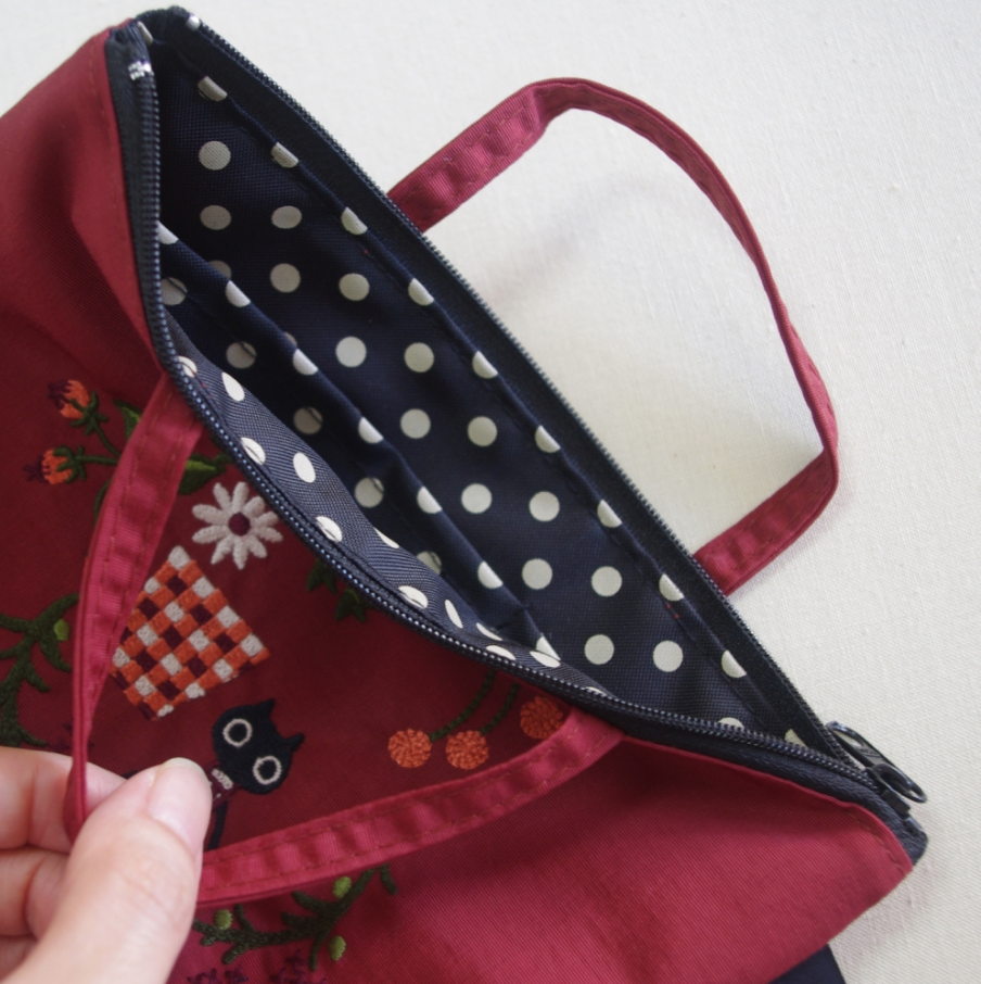 Small Bag Embroidered - Bordeaux