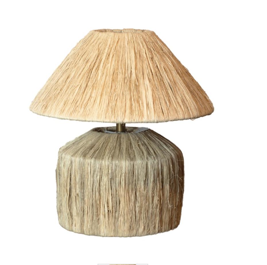 Lamp - Raffia Natural