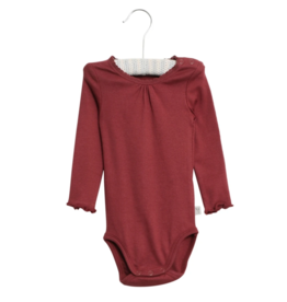 Wheat Body Rib Lace - Burgundy