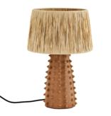 Madam Stolz Table lamp Terracotta with Raffia shade