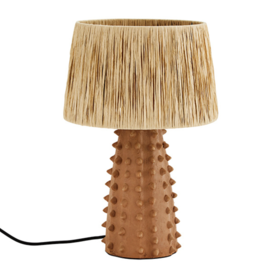 Madam Stolz Table lamp Terracotta with Raffia shade
