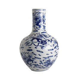Vase Straight Neck - Dragon