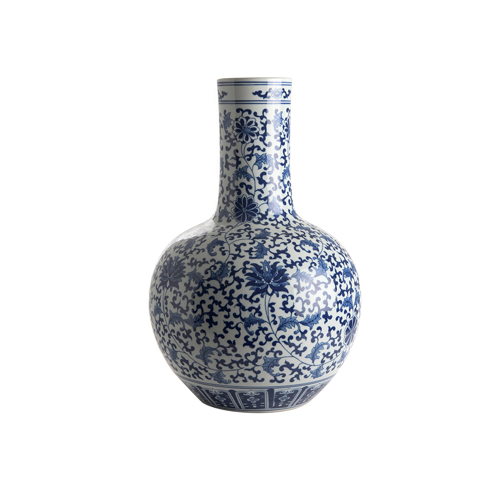 Vase Straight Neck - Lotus