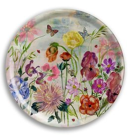 Avenida Home Tray Round - Flowers