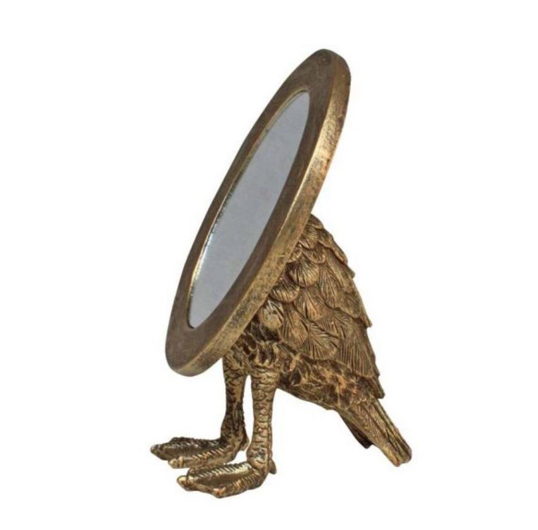 Oval Mirror with Bird Feet
