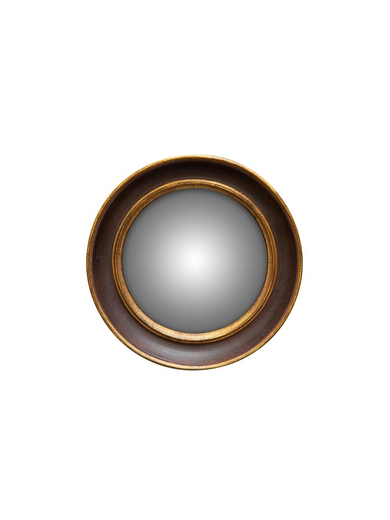 Convex Mirror - Double Gold Rim