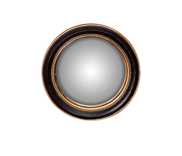Convex Spiegel - Gouden Bolletjes Rand