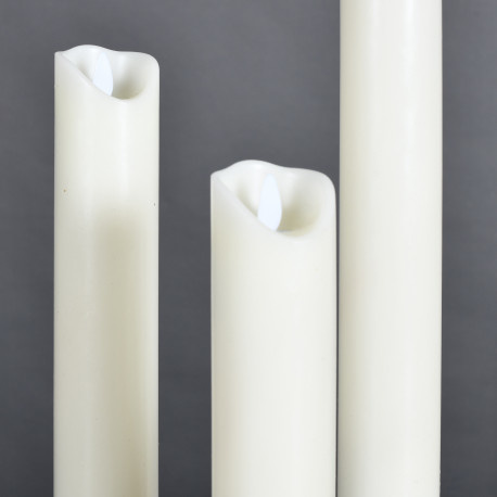 Set of 5 Church Candles LED