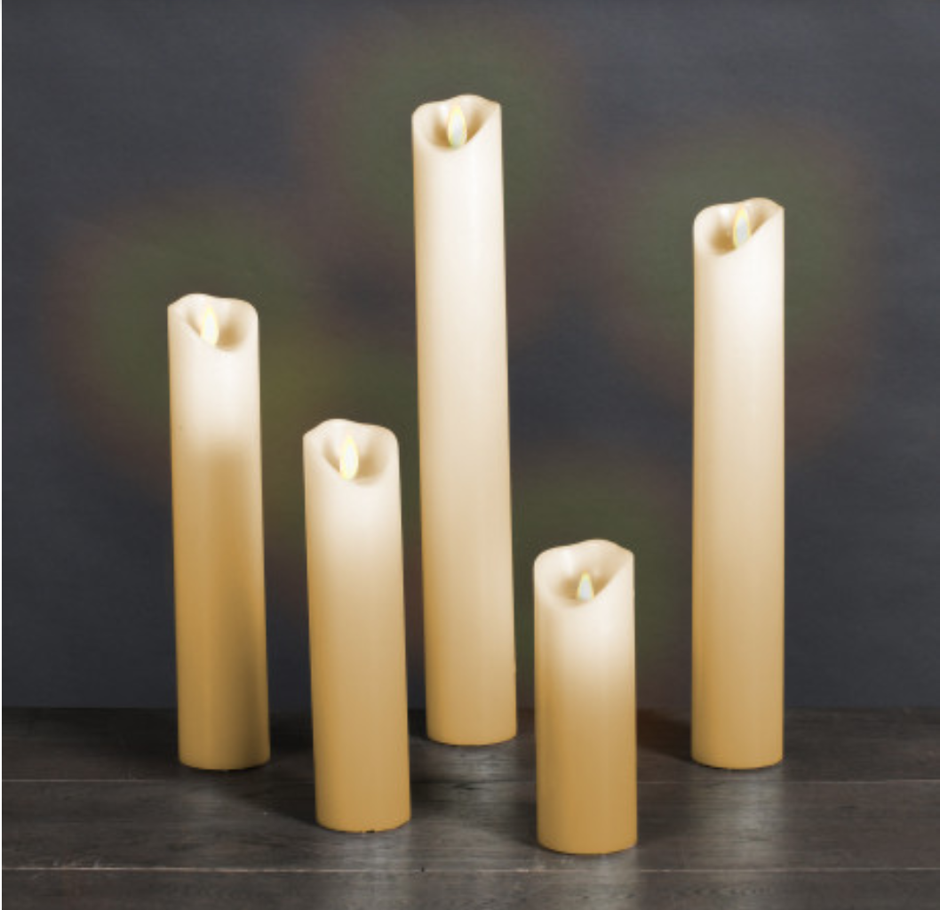 Set van 5 Kerk Kaarsen LED