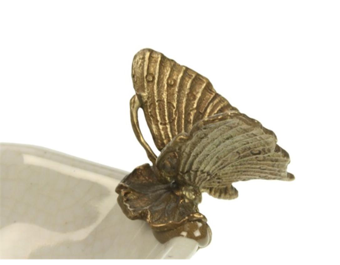 Schaaltje  met Vlinder- Craquelé