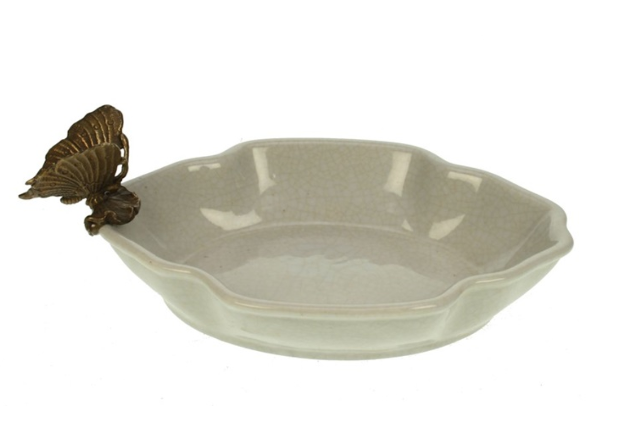 Bowl with Butterfly  - Crackle