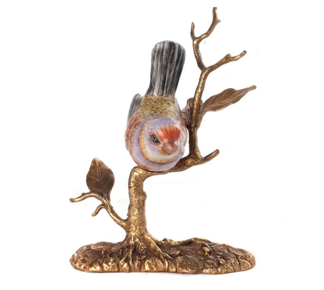 Bird on Bronze Branch