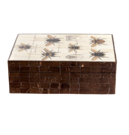 Storage box Bees - Wood / Bone