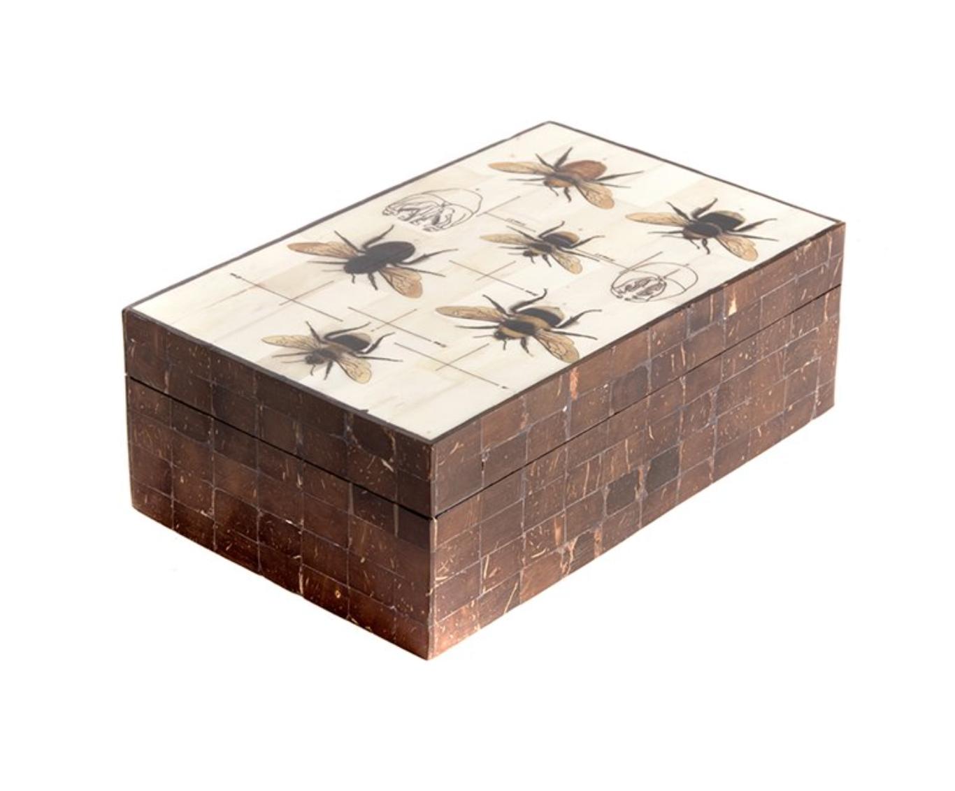 Opbergdoos  Bijen - Hout/Been