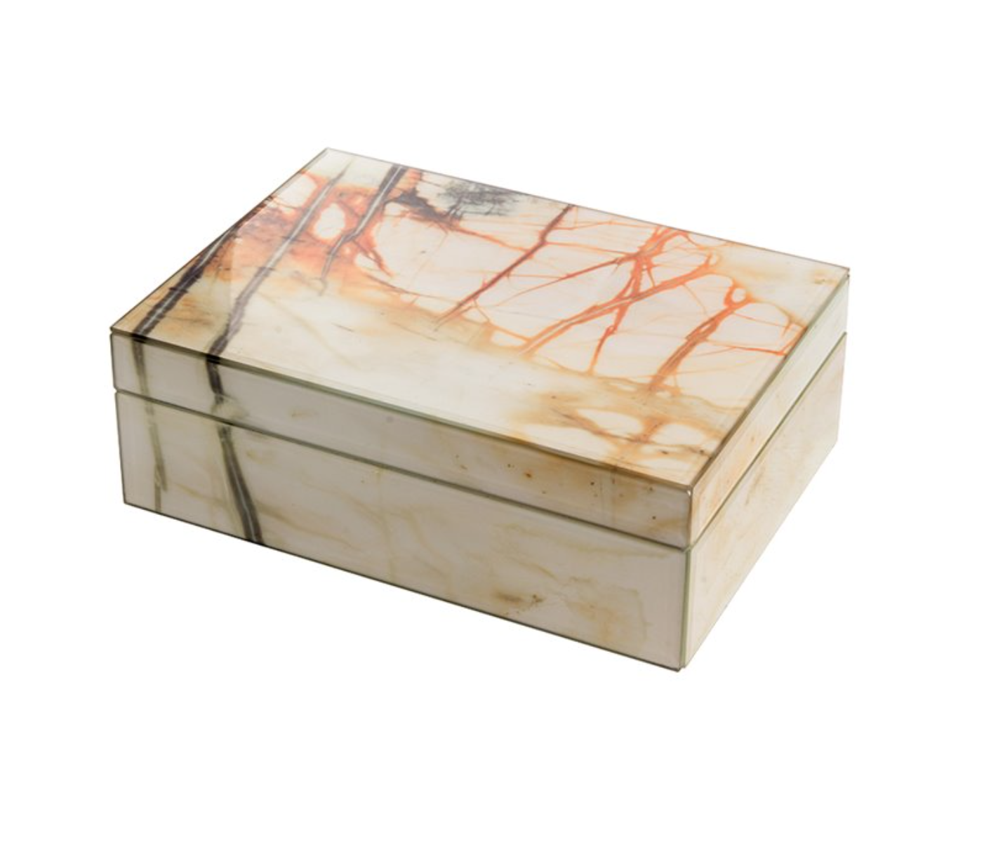 Opbergdoos - Marmer (Oranje/Geel)