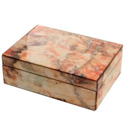 Mirror Box - Marble (Orange/Ecru)