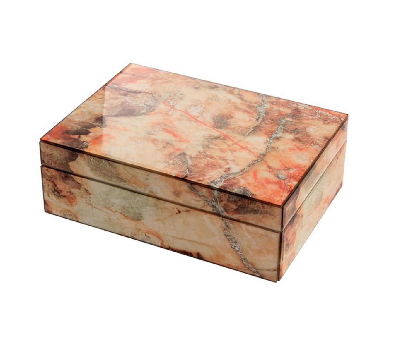 Mirror Box - Marble (Orange/Ecru 007A)
