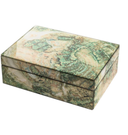 Mirror Box - Marble (Green/Ecru)