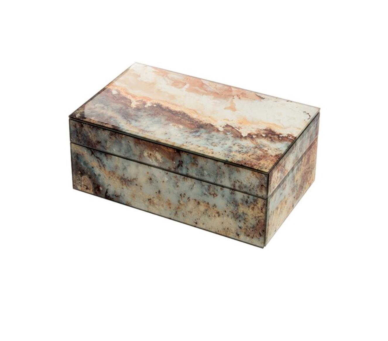 Mirror Box - Marble (Ecru/Orange/Blue)