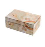 Mirror Box - Marble (Ecru/Orange)