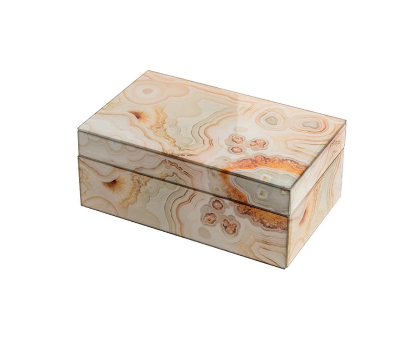 Mirror Box - Marble (Ecru/Orange 003B)