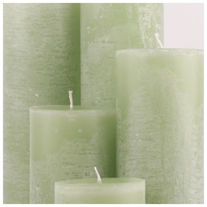 Bika Blooming Candles - Soft Green