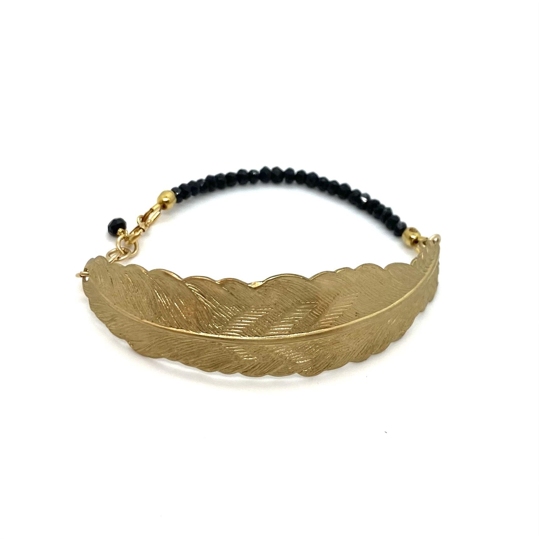 Bracelet Feather - Black