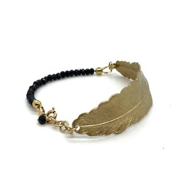 Bracelet Feather - Black